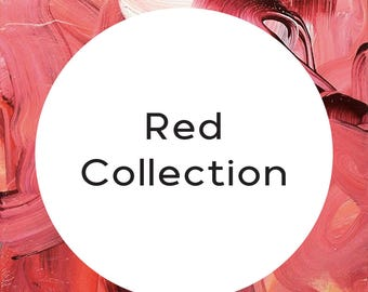 "Handmade statement stud earrings // gifts for her // ""Red Collection"""