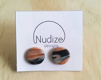 "Handmade statement stud earrings // gifts for her // ""Modern madness"""
