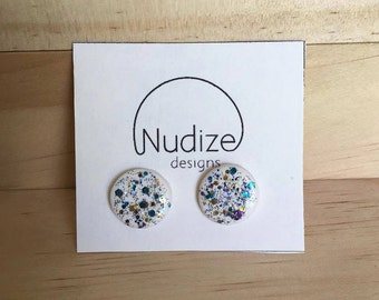 "Handmade statement stud earrings // gifts for her // ""Shine bright"""