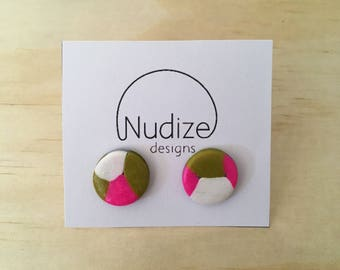 "Handmade statement stud earrings // gifts for her // ""Twister"""