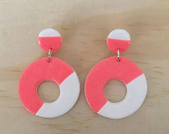 """Handmade statement dangle earrings // gifts for her // """"Out of the crowd"""""""