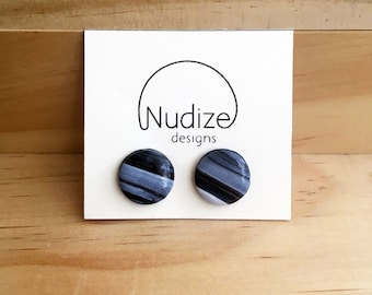 "Handmade statement stud earrings // gifts for her // ""Monochrome"""