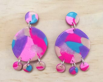 "Handmade statement dangle earrings // gifts for her // ""Dream chaser"""