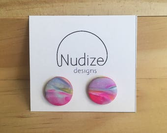 """Handmade statement stud earrings // gifts for her // """"My Love"""""""