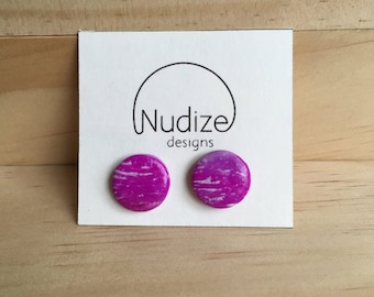 "Handmade statement stud earrings // gifts for her // ""Sorbet"""