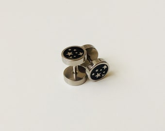 d58380ece Fake Plugs | Cheater Plugs | Piercing | Earring | Plugs | Stars | 8mm |  Body Jewellery