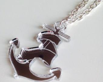 Sale | Anchor | Nautical | Mermaid | Old School | Tattoo Rockabilly | Laser Cut | Acrylic | Necklace