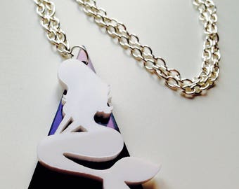Sale | Mermaid | Nautical | Monochrome | Mirrored | Rockabilly | Laser Cut | Acrylic | Necklace