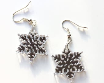 Snowflake | Winter | Winter Is Coming | Christmas | Snow | Ice | Laser Cut | Acrylic | Earrings