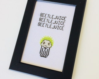 Beetlejuice | Movie | Character | Quote | Cute | Gift | Home | Framed | Cross Stitch |