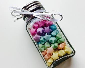 Origami | Lucky Star | Stars | Love | Retro | Rainbow | Jar | Gift | Wedding | Home | Baby