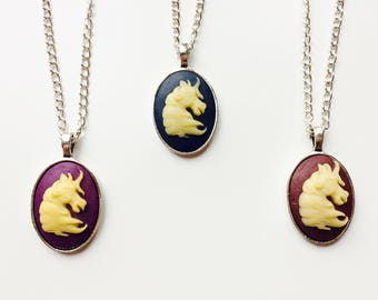 Unicorn | Horse | Cameo | Vintage Style | Retro | Victorian Inspired | Monochrome
