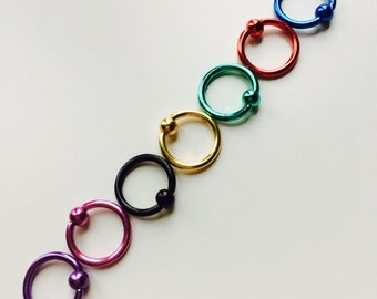 Hoop | Ball Closure Ring | Ring | BCR | Piercing | Body Jewellery | Coloured