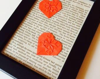 Origami | Heart | Book | Love | Shabby Chic | Retro | Paper Craft | Wedding | Anniversary | Gift | Home