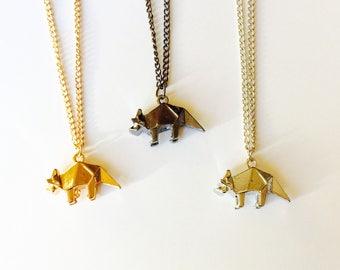 Dinosaur | T-Rex | Jurassic World | Jurassic Park | Triceratops | Geometric | Necklace