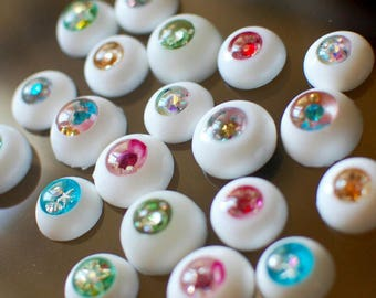 Doll eyes molds Different sizes eye mold form for dolls face polymer clay art