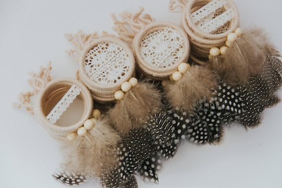 Bohemian Mini Dreamcatcher Favor Set Boho Wedding Favors Etsy Stunning Dream Catcher Wedding Favors