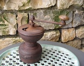 Old French Coffee Grinder. Antique Coffee Mill. Rustic Kitchen Décor. Cast Iron Coffee Grinder.
