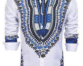 Men's African Dashiki Style Shirt