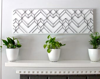 Charming Geometric Wall Art, Geometric Art, Modern Wall Art, Black And White Wall Art,  3D Wall Art, Abstract Art, Unique Wall Art, Modern Home Decor
