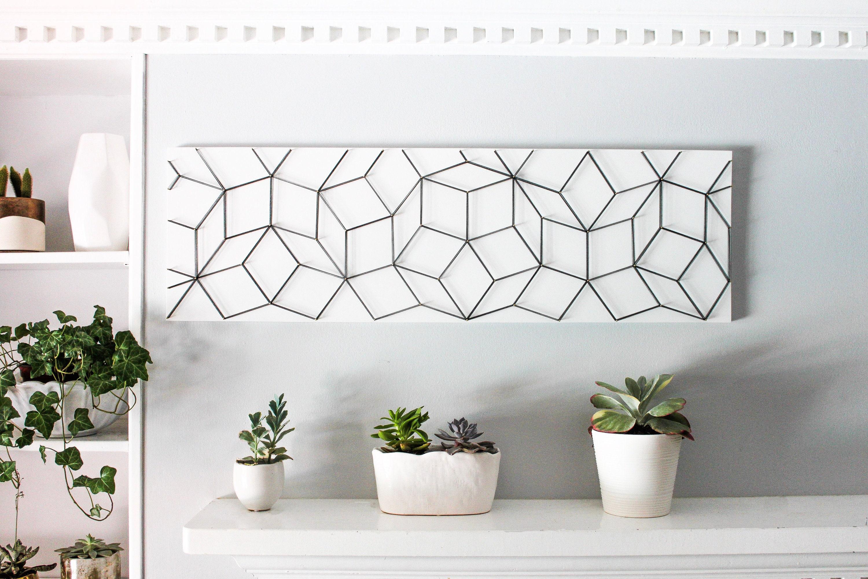 Geometric Wall Art Black And White 3D