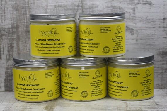 Sulfur Ointment sulphur cream acne blackhead spot zit handmade treatment  200ml