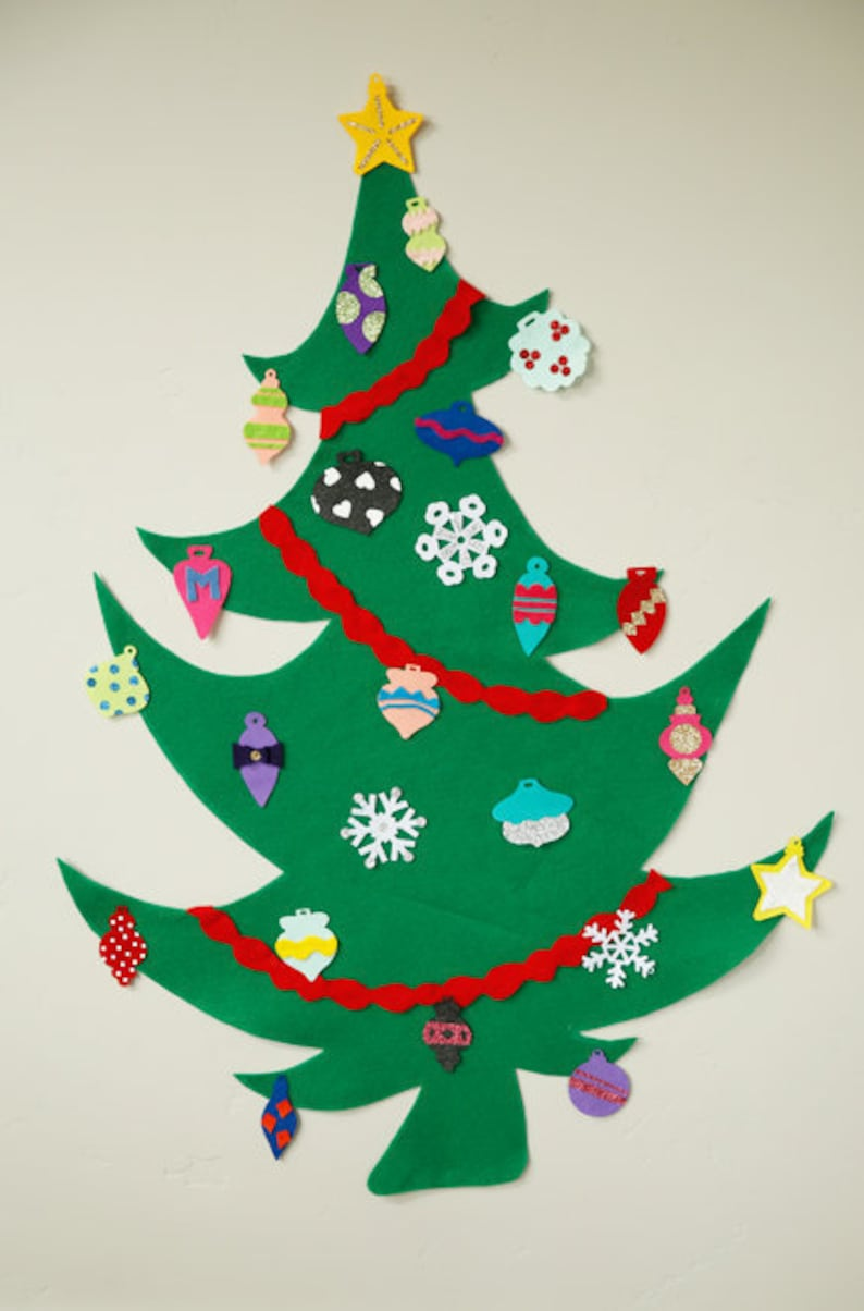 Felt Christmas Tree Pattern.Whimsy Felt Christmas Tree For Kids Pdf Pattern No Sew Pattern Pretend Play Christmas Tree Pattern Kids Christmas Tree Pattern
