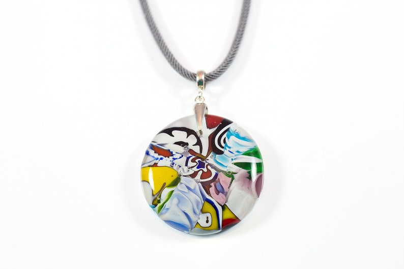 eb91906ca87 Collier pendentif verre Murano coloré bijoux italien Unique