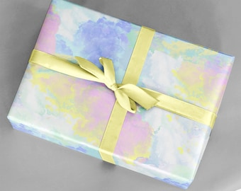 Watercolor wrapping paper sheets gift wrap GWWC1