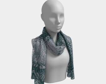Bitweave Dark Green Long Scarf