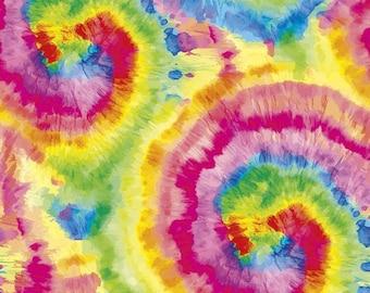 Riley Blake Fabrics -  Stretch Jersey Knit Tie Dye Bright