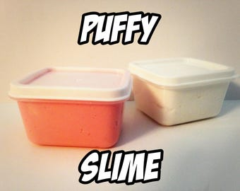 Custom SLIME - Fluffy Puffy Scented Slime - Pink Cotton candy, White Marshmallow, Yellow Cupcake - Choose your own - slime gift shop