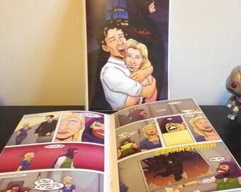 Custom Comic Book - personalized birthday, anniversary, wedding gift - nerdy geek present comic book art