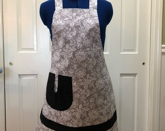 Full apron from ElliesAlley - gift for Mom-teacher gift-hostess gift- use for  ooking, baking, crafting or gardening   Apron