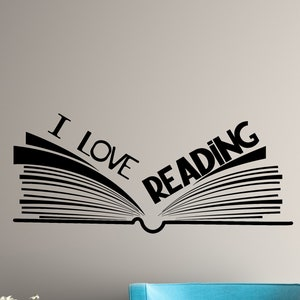 #2782di Pile of Books Vinyl Wall Decal Library Reading Corner Room School Stickers
