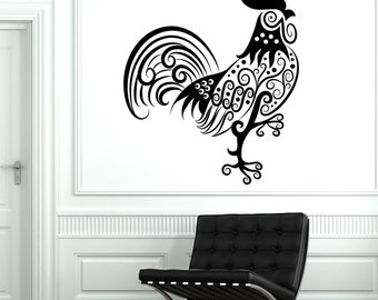 Wall Decal Tiger Animal Floral Ornament Tribal Mural Vinyl Decal 1708dz