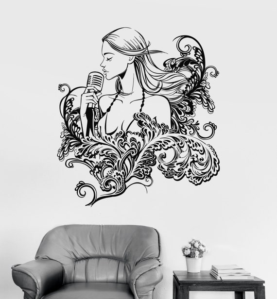 Wall Vinyl Decal Flower Floral Butterflies Guaranteed Quality Decor 2060di