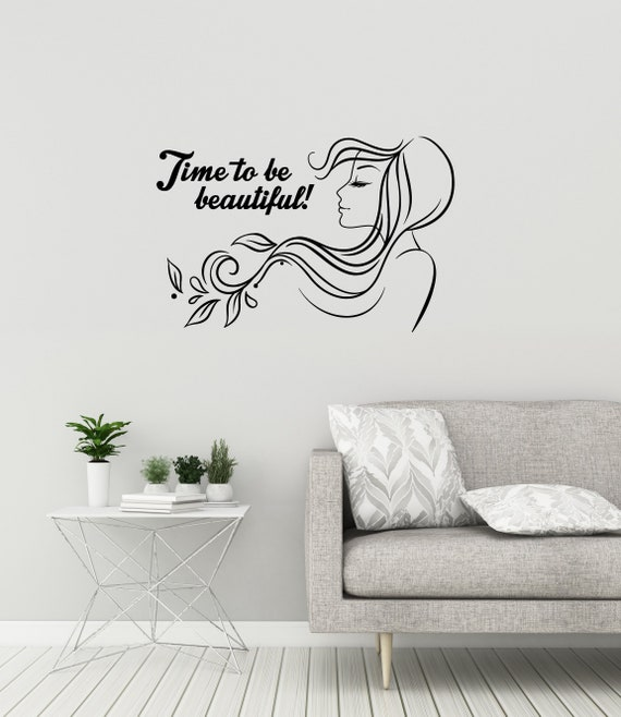 Inspirational Quote Vinyl Wall Decal Beauty Spa Hair Salon Etsy