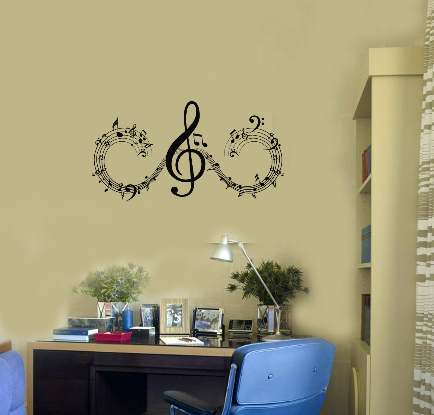 Musical Notes Vinyl Wall Decal Music Home Interior Room Art | Etsy