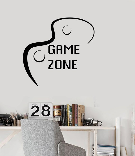 #1112di Wall Vinyl Decal Children/'s Room Decor Login to Enter Computer Games Gaming Decoration