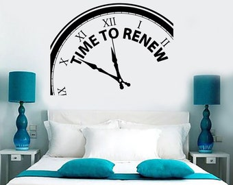 Wall Vinyl Decal Quotes Time To Renew Amazing Motivation Words Decor 1313dz
