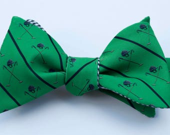 Polo Helmet Emblem Bow Tie - green