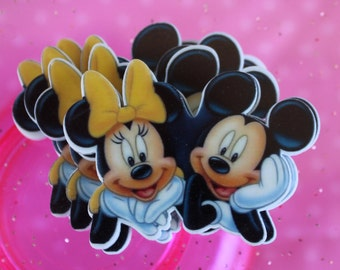 Mickey and Minnie Mouse Planar Resin Cabochon