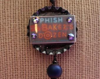 Baker's Dozen Resin Pendant Necklace