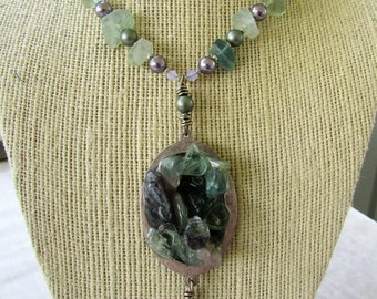 Resin and Stone Necklace