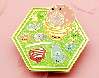 Plant Cell, Cell Biology Enamel Pin