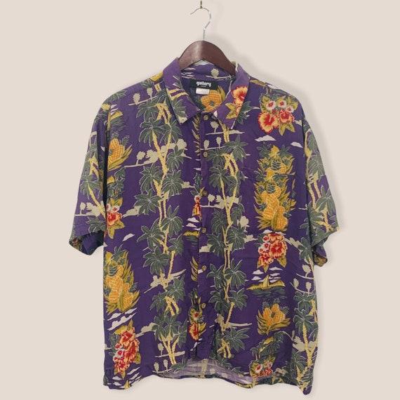 Vintage Rayon Hawaiian Shirt XL / Floral Aloha shi