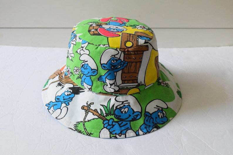 80s Cartoon  Reversible Bucket Hat  Adult Bucket Hat  image 0
