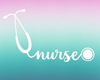 Nurse decal | stethoscope decal | nurse sticker | lilly inspired decal | nurse car decal | tumbler decal | nurse gift | laptop decal