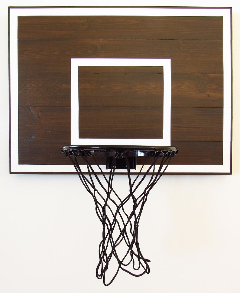 Modern Basketball Hoop For Bedroom Birthdays Players Men Boyfriends Kids  Espresso And White Mini Goal Sports Decor